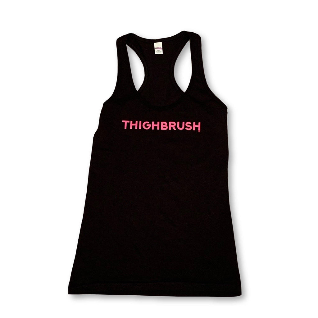 "THIGHBRUSH® - ""THIGHBRUSH"" - Women's Tank Top - Black with Hot Pink - thighbrush"