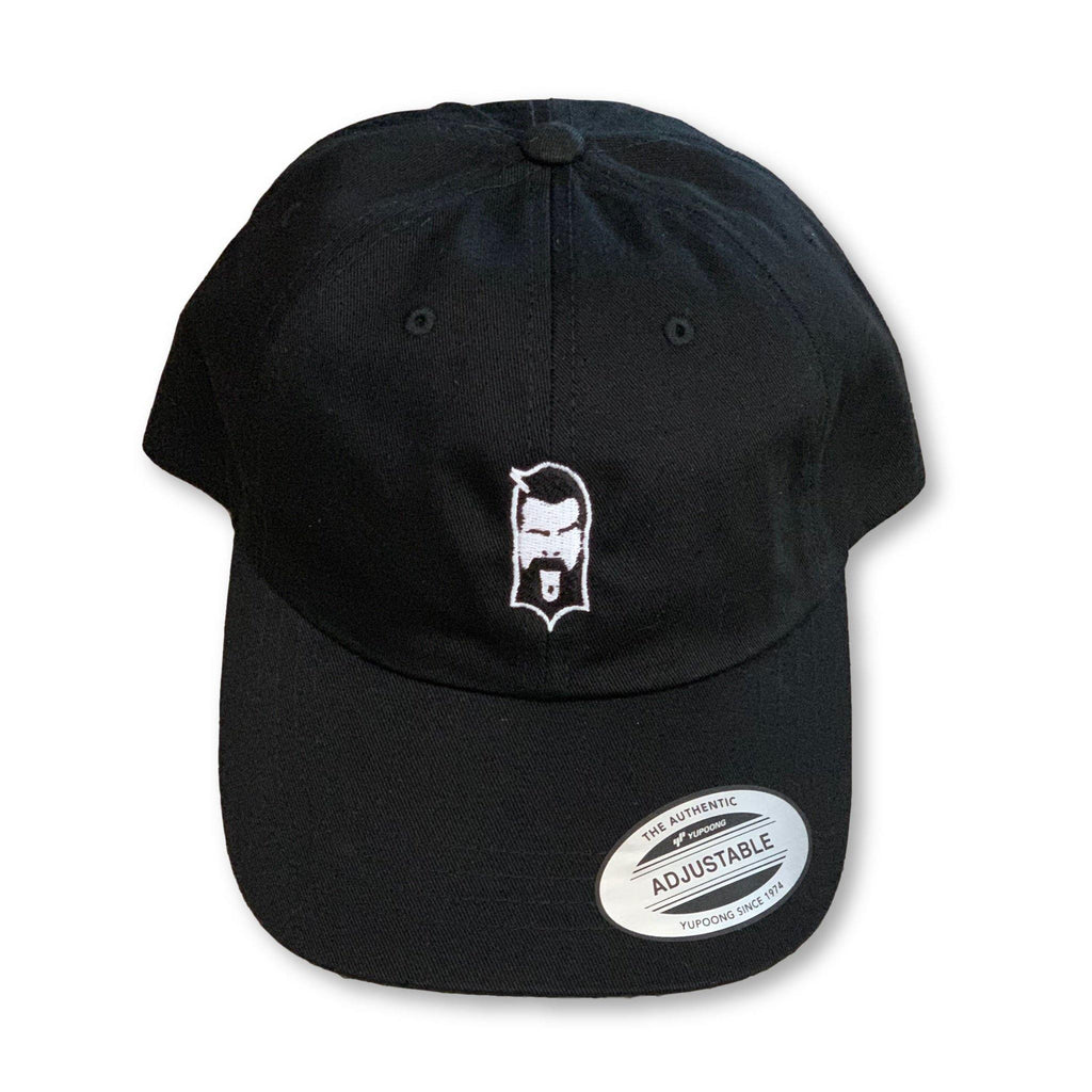 THIGHBRUSH® - Dad Hat - Black on Black with 2-Tone Face Logo - thighbrush