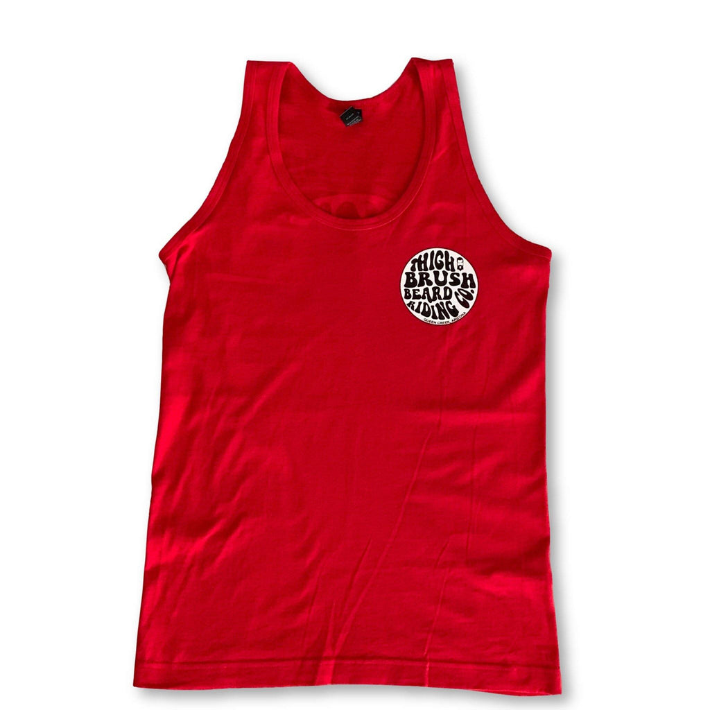 THIGHBRUSH® BEARD RIDING COMPANY - Men's Tank Top - Red - thighbrush
