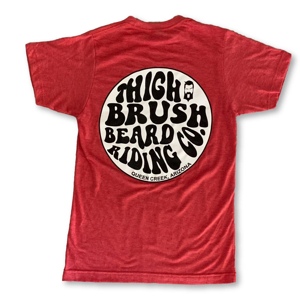THIGHBRUSH® BEARD RIDING COMPANY - Men's Logo T-Shirt - Heather Red - thighbrush
