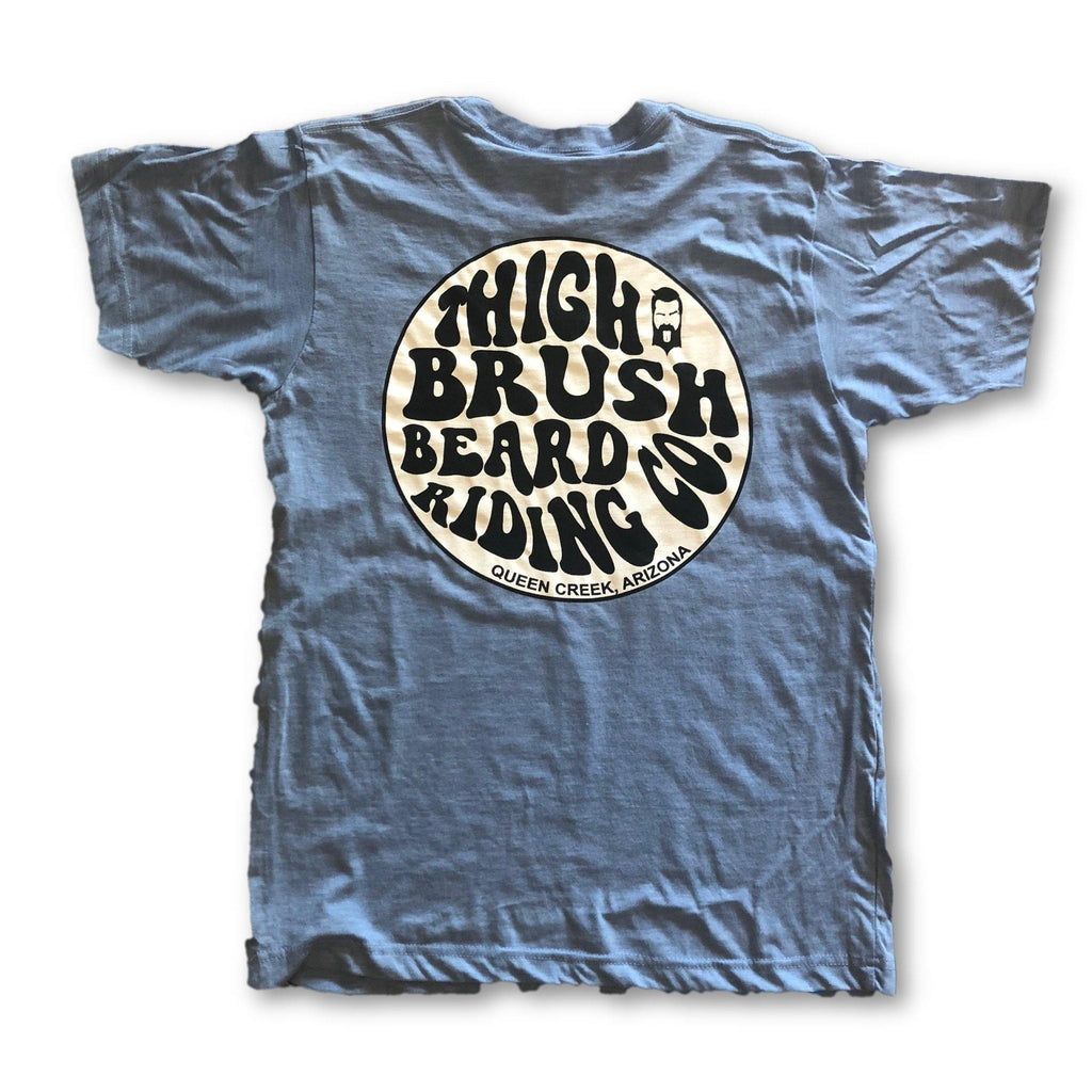 THIGHBRUSH® BEARD RIDING COMPANY - Men's Logo T-Shirt - Light Blue - thighbrush
