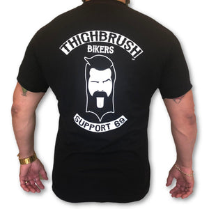 "THIGHBRUSH BIKERS - ""SUPPORT 69"" - Men's T-Shirt - Black and White"