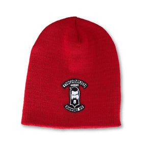 "THIGHBRUSH® BIKERS ""SUPPORT 69"" Beanies - Patch on Front - Red"