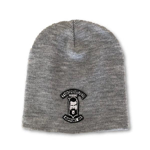 "THIGHBRUSH® BIKERS ""SUPPORT 69"" Beanies - Patch on Front - Grey"