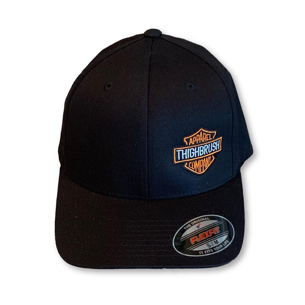 "THIGHBRUSH® BIKERS - ""THIGHBRUSH APPAREL COMPANY"" - FlexFit Hat - Black - thighbrush"