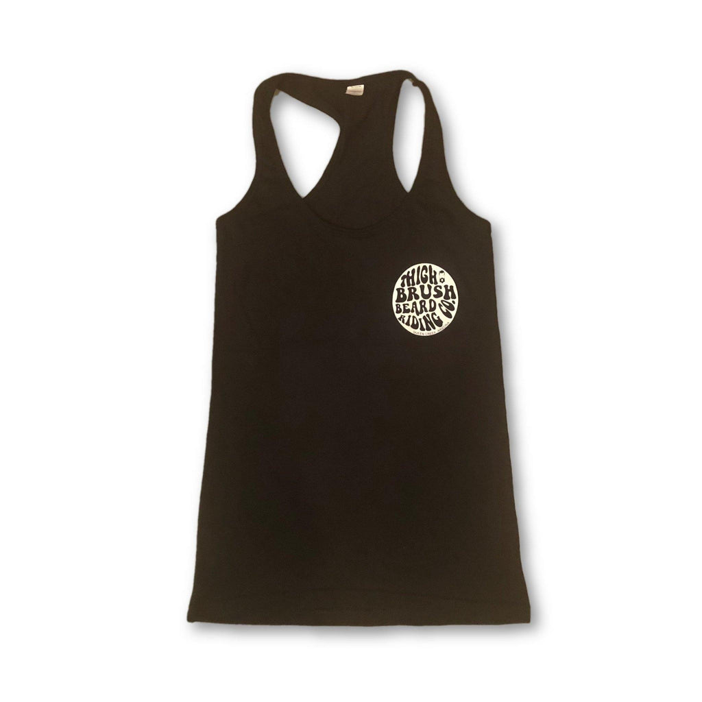 THIGHBRUSH® BEARD RIDING COMPANY - Women's Logo Tank Top - Black - thighbrush