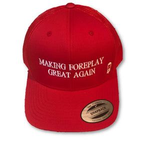THIGHBRUSH - Making Foreplay Great Again - Trucker Snapback Hat - Red