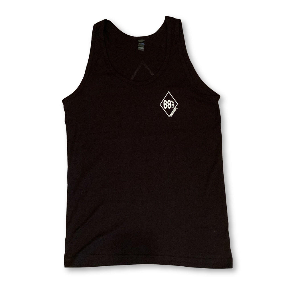 "THIGHBRUSH® - ""69% ER DIAMOND COLLECTION"" - Men's Tank Top - Black"