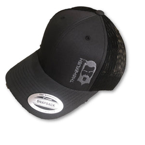 THIGHBRUSH® - Trucker Snapback Hat - Charcoal Grey and Black - thighbrush