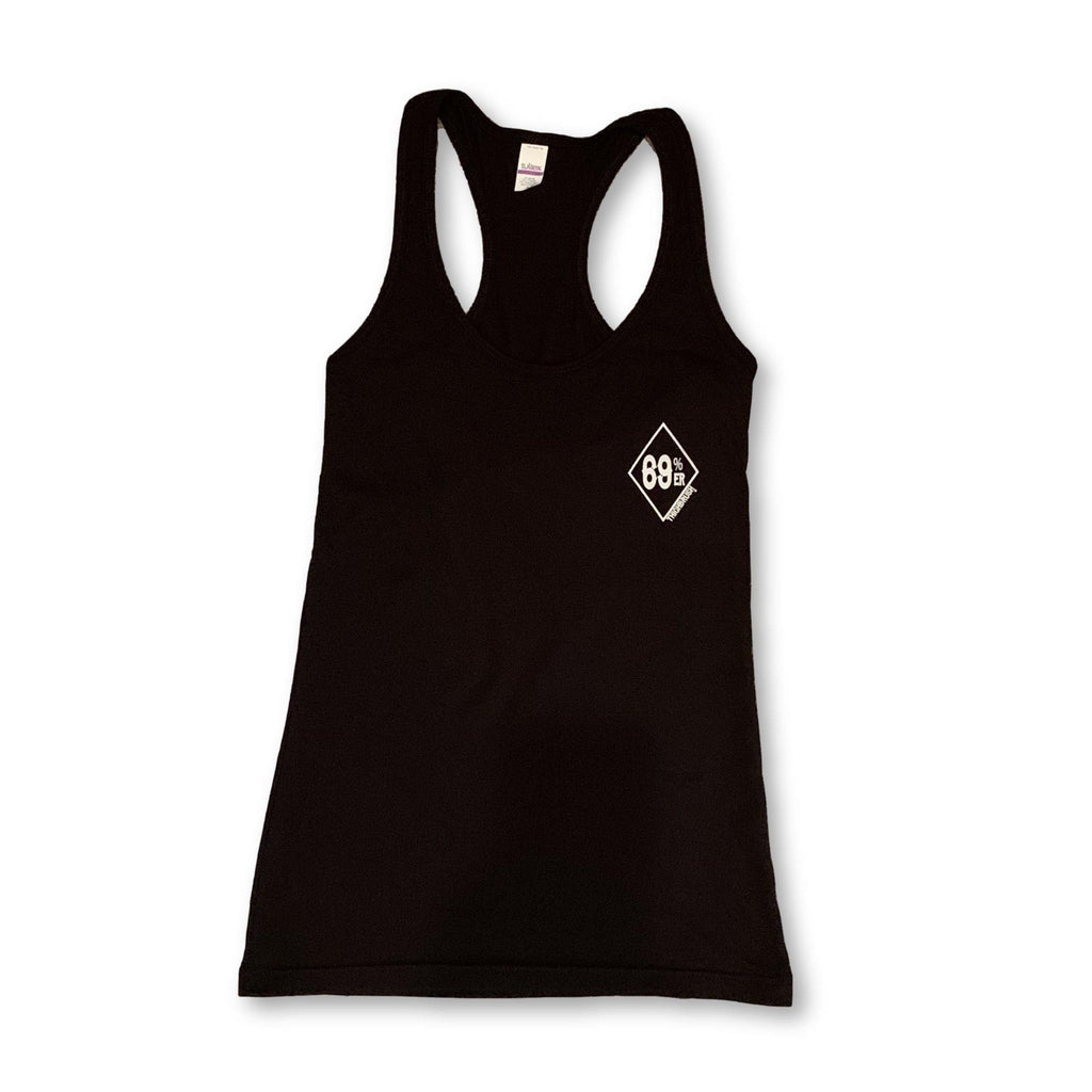 "THIGHBRUSH® - ""69% ER DIAMOND COLLECTION"" - Women's Tank Top - Black"