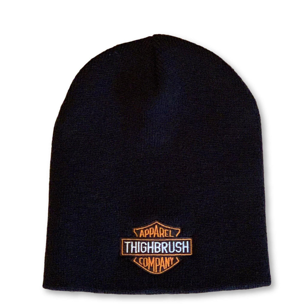 THIGHBRUSH® APPAREL COMPANY Beanies - Patch on Front - Black