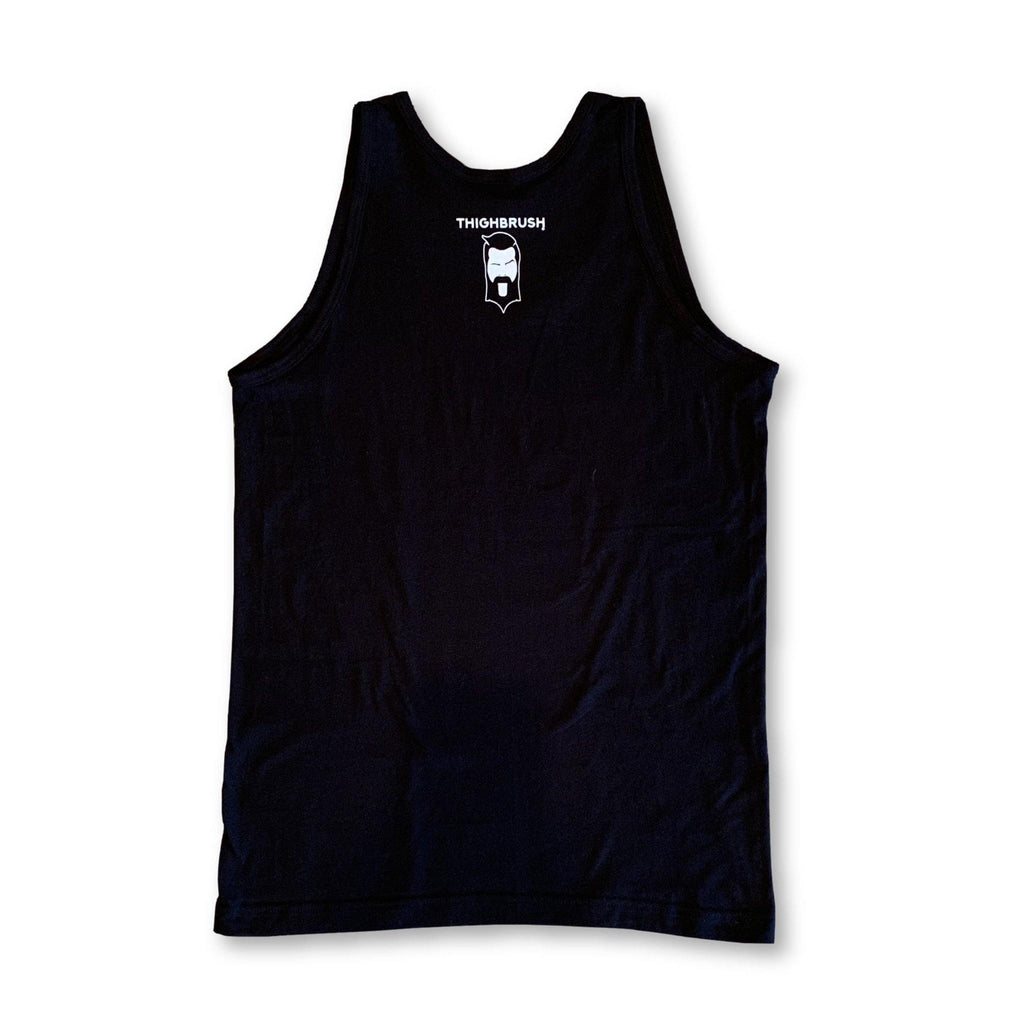 "THIGHBRUSH® ""#beardedforyourpleasure"" Men's Tank Top in Black"