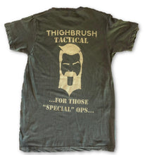 "THIGHBRUSH® TACTICAL - ARMED FORCES COLLECTION - ""For Those ""Special"" Ops"" - Men's T-Shirt - Heather Military Green and Tan - thighbrush"