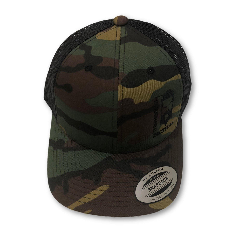 THIGHBRUSH® TACTICAL - SnapBack Hat - Dark Camo - thighbrush