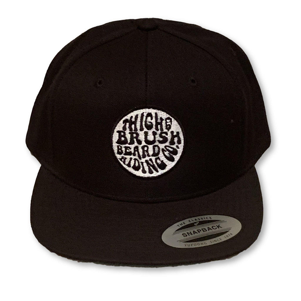 THIGHBRUSH® BEARD RIDING COMPANY - Trucker Snapback Hat - Black - Flat Bill