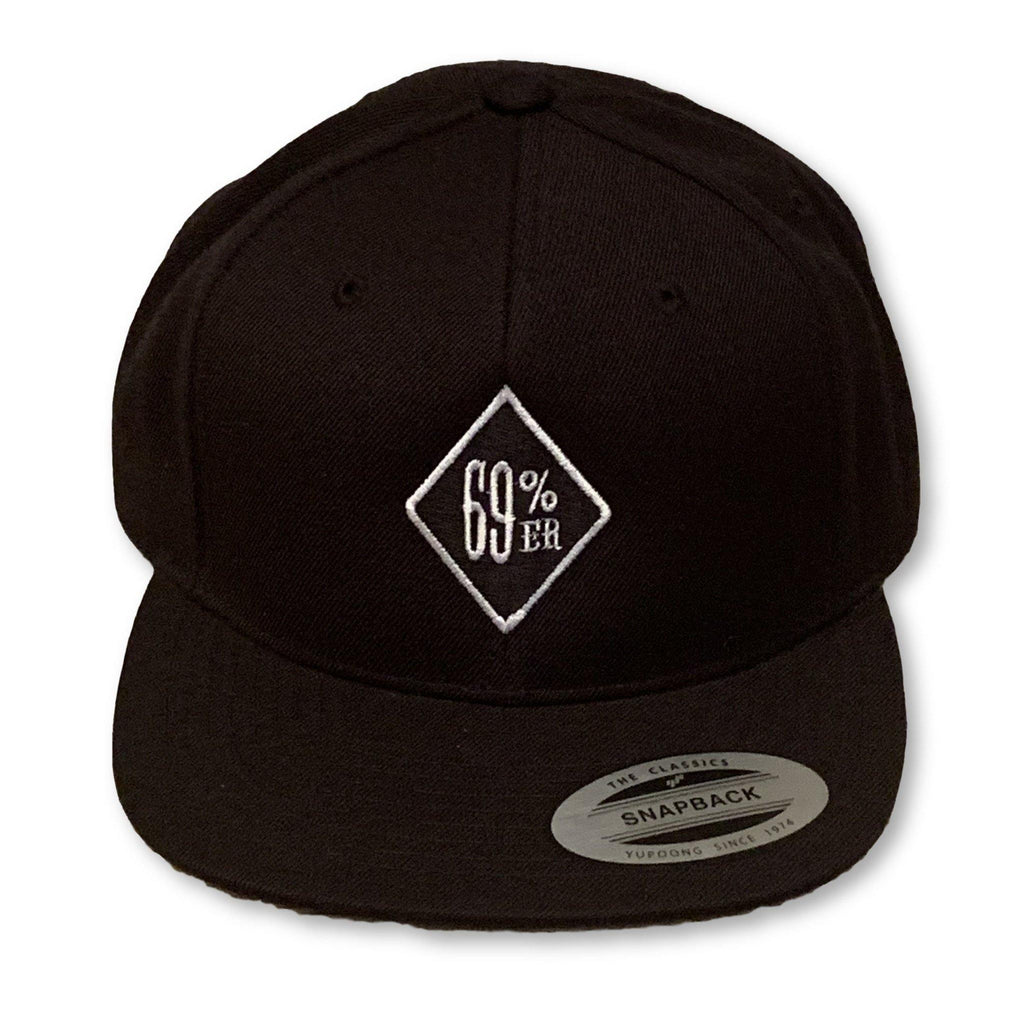 "THIGHBRUSH® ""69% ER DIAMOND COLLECTION"" - Trucker Snapback Hat - Black - Flat Bill"