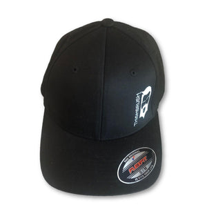 THIGHBRUSH - FlexFit Hat - Black with Silver-Grey - #THIGHBRUSHNATION