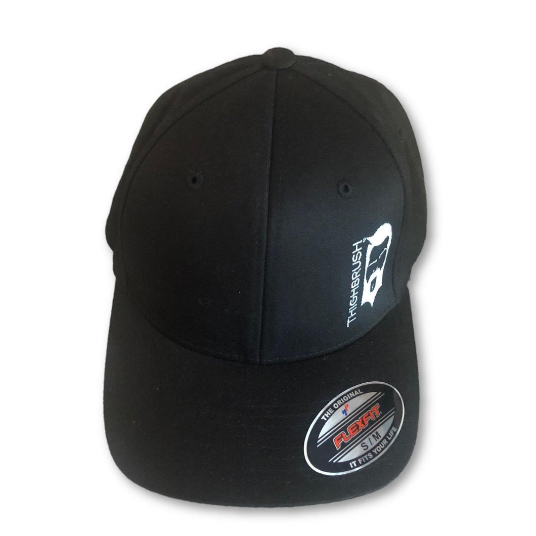 THIGHBRUSH - FlexFit Hat - Black with Silver-Grey - #THIGHBRUSHNATION - THIGHBRUSH®