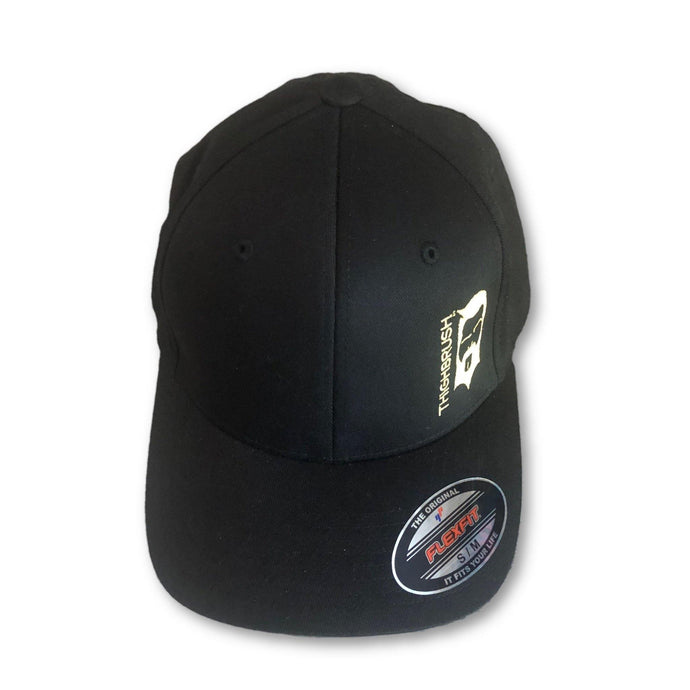 THIGHBRUSH® - FlexFit Hat - Black with Gold - #THIGHBRUSHNATION - thighbrush