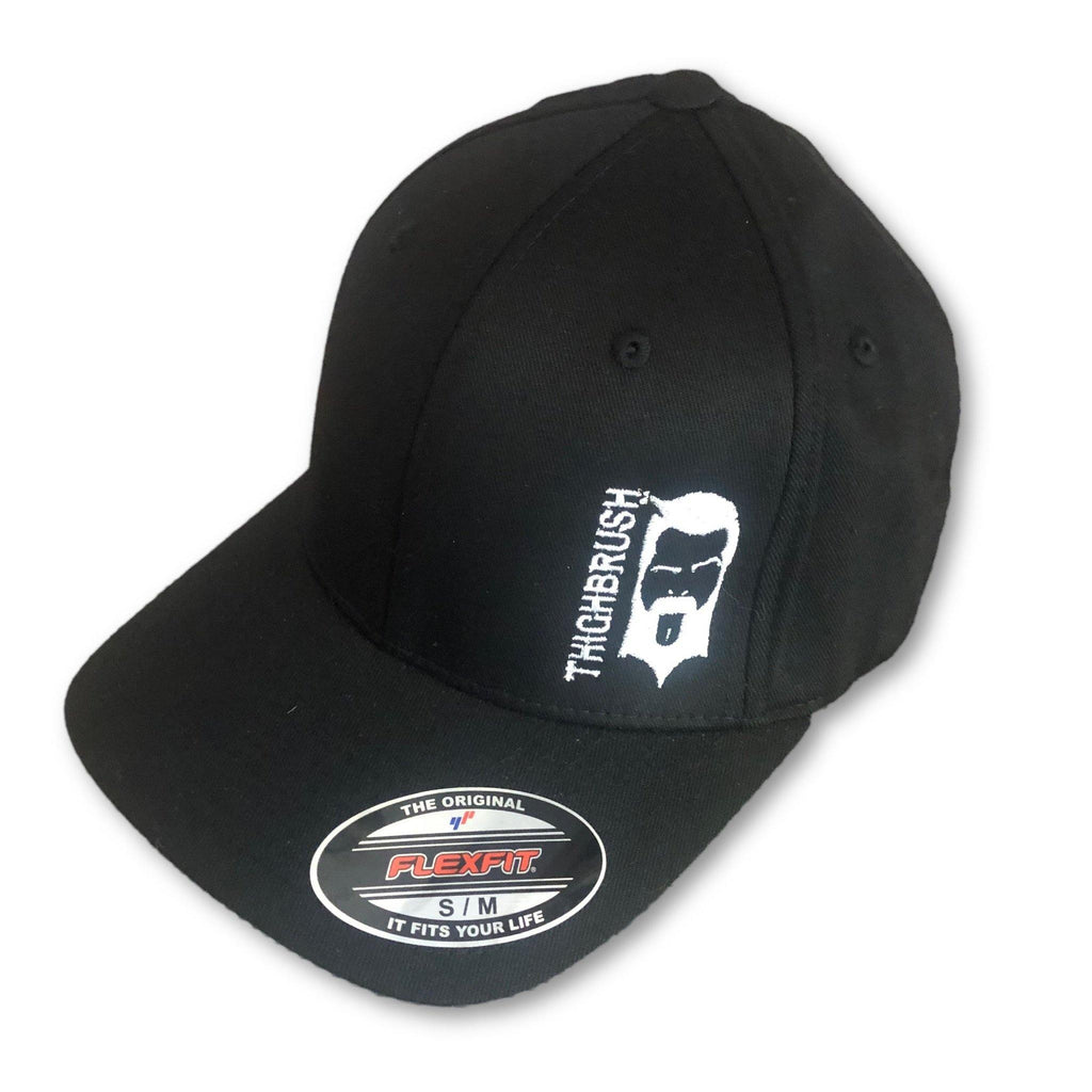 THIGHBRUSH® - FlexFit Hat - Black with White - #SUPPORT69 - thighbrush