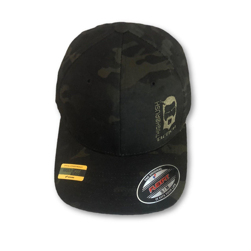 THIGHBRUSH® TACTICAL - FlexFit Hat - Camo - Multicam Black - Squeal Team Six - thighbrush