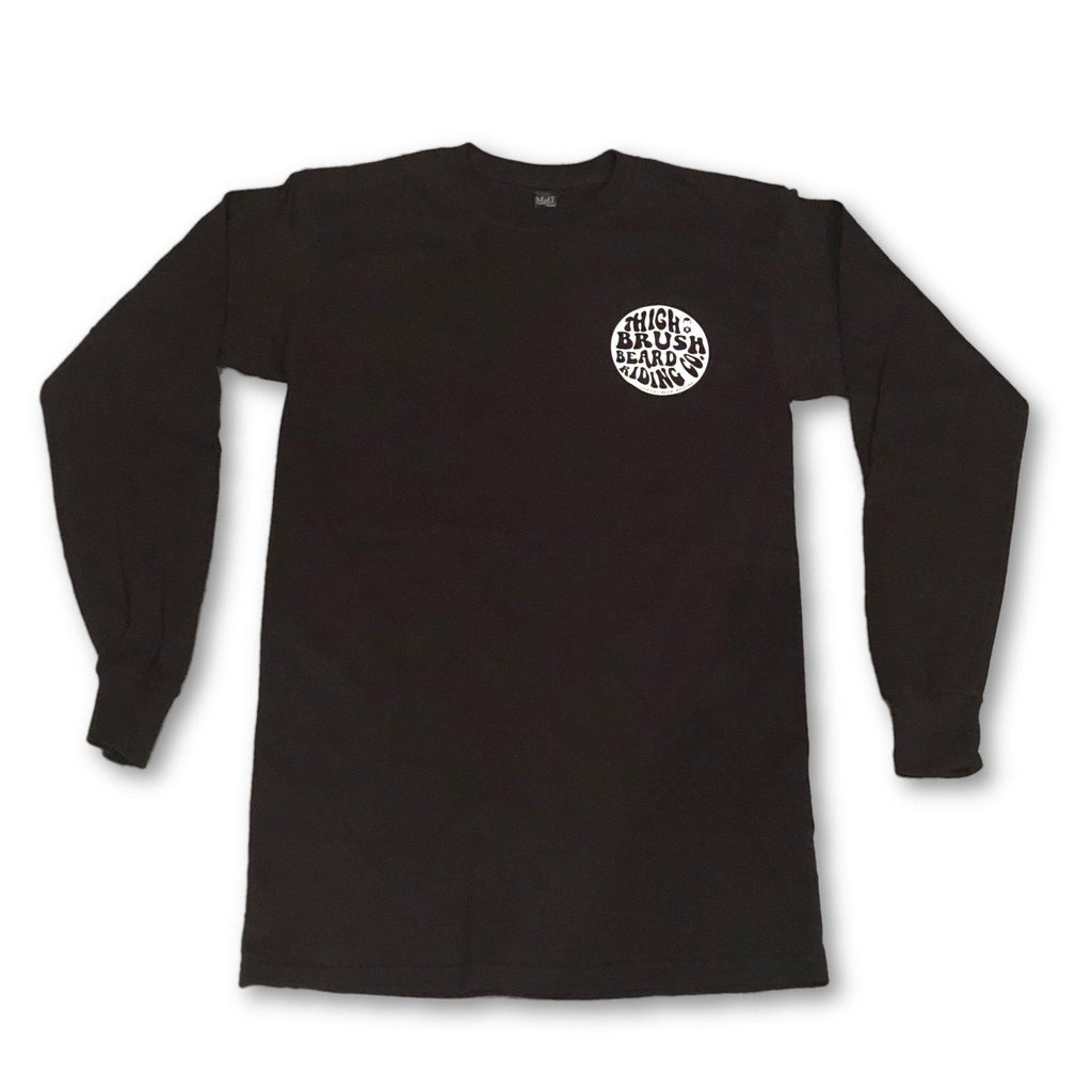 THIGHBRUSH® BEARD RIDING COMPANY - Unisex Long Sleeve Logo T-Shirt - Black - thighbrush