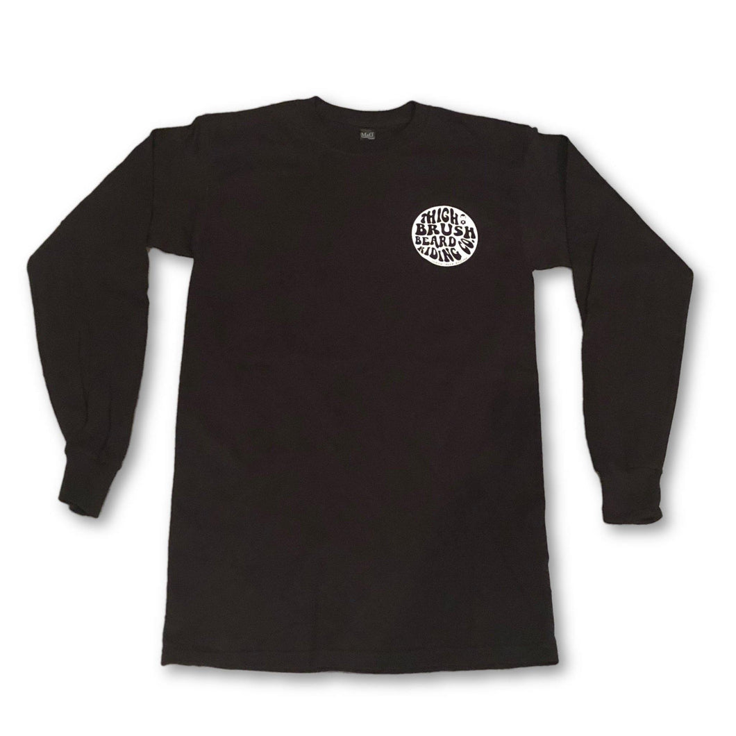 THIGHBRUSH BEARD RIDING COMPANY - Men's Long Sleeve Logo T-Shirt - Black - THIGHBRUSH®