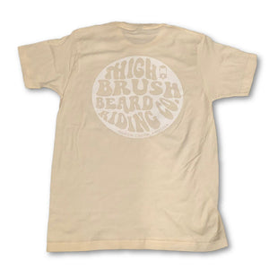 THIGHBRUSH BEARD RIDING COMPANY - Men's Logo T-Shirt - Natural with White Logo - THIGHBRUSH®