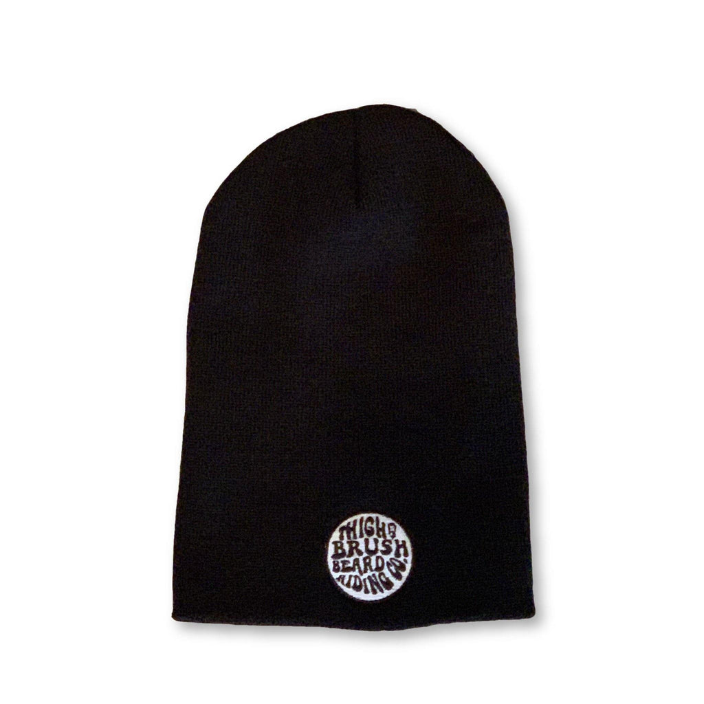 THIGHBRUSH® BEARD RIDING COMPANY - Slouchy Beanies - Patch on Front - Black