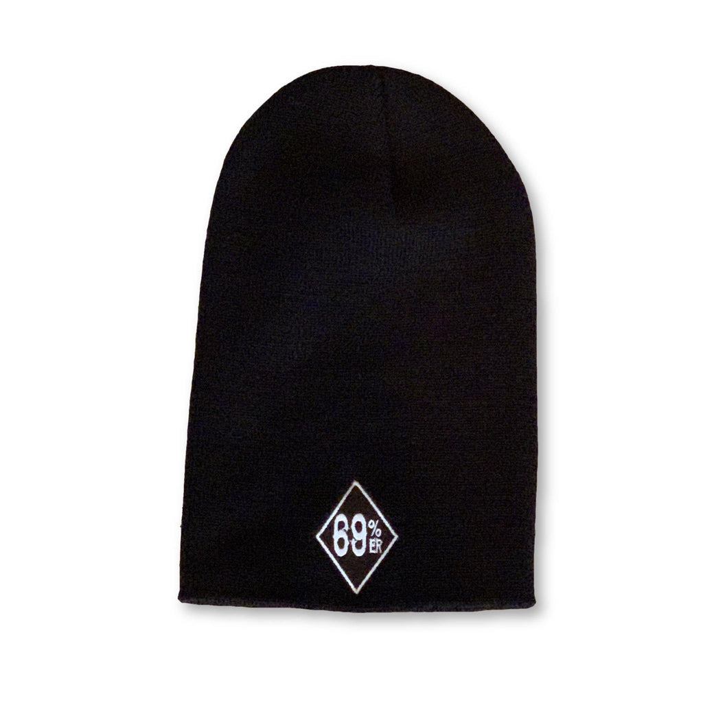 "THIGHBRUSH® ""69% ER DIAMOND COLLECTION"" - Slouchy Beanies - Diamond Patch on Front - Black"