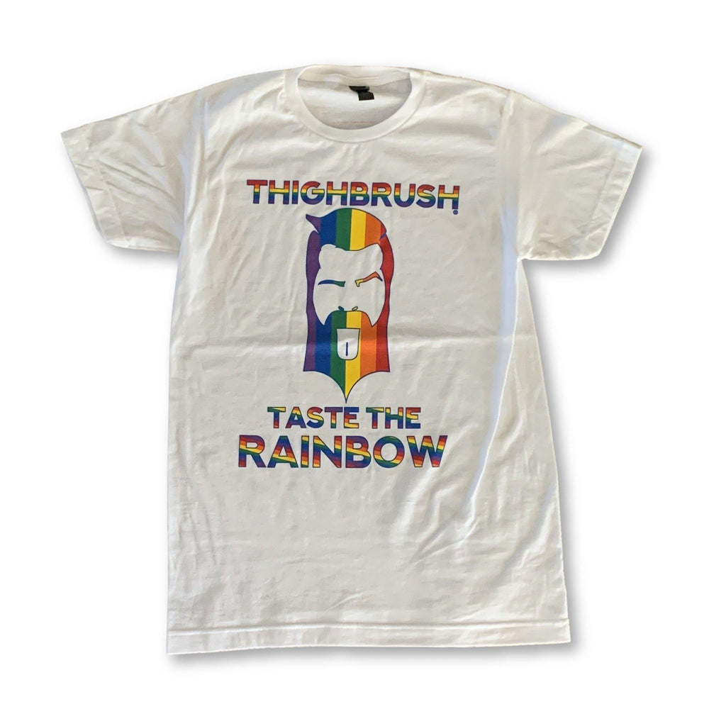 "THIGHBRUSH® LIMITED EDITION - ""TASTE THE RAINBOW"" - Men's T-Shirt - White"