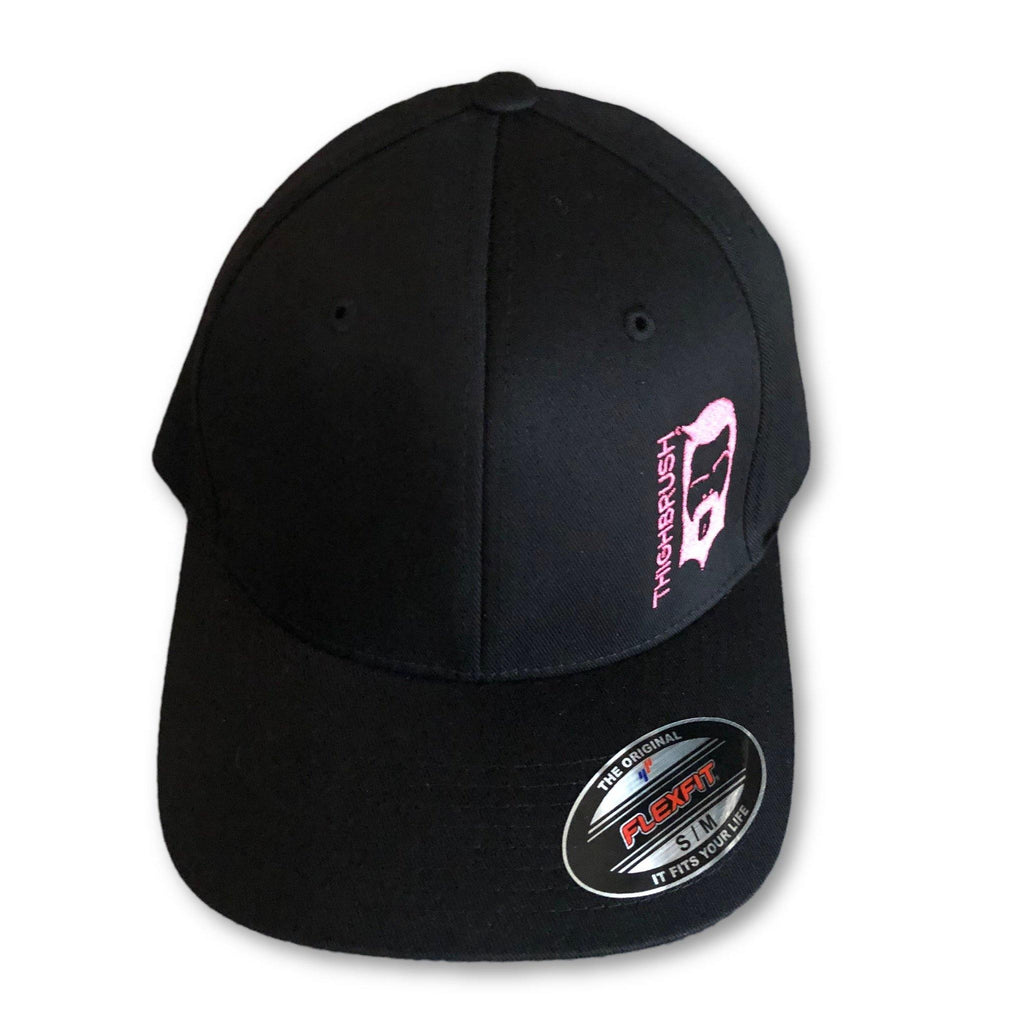 "THIGHBRUSH® ""Tickled Pink"" - FlexFit Hat - Black and Pink - thighbrush"