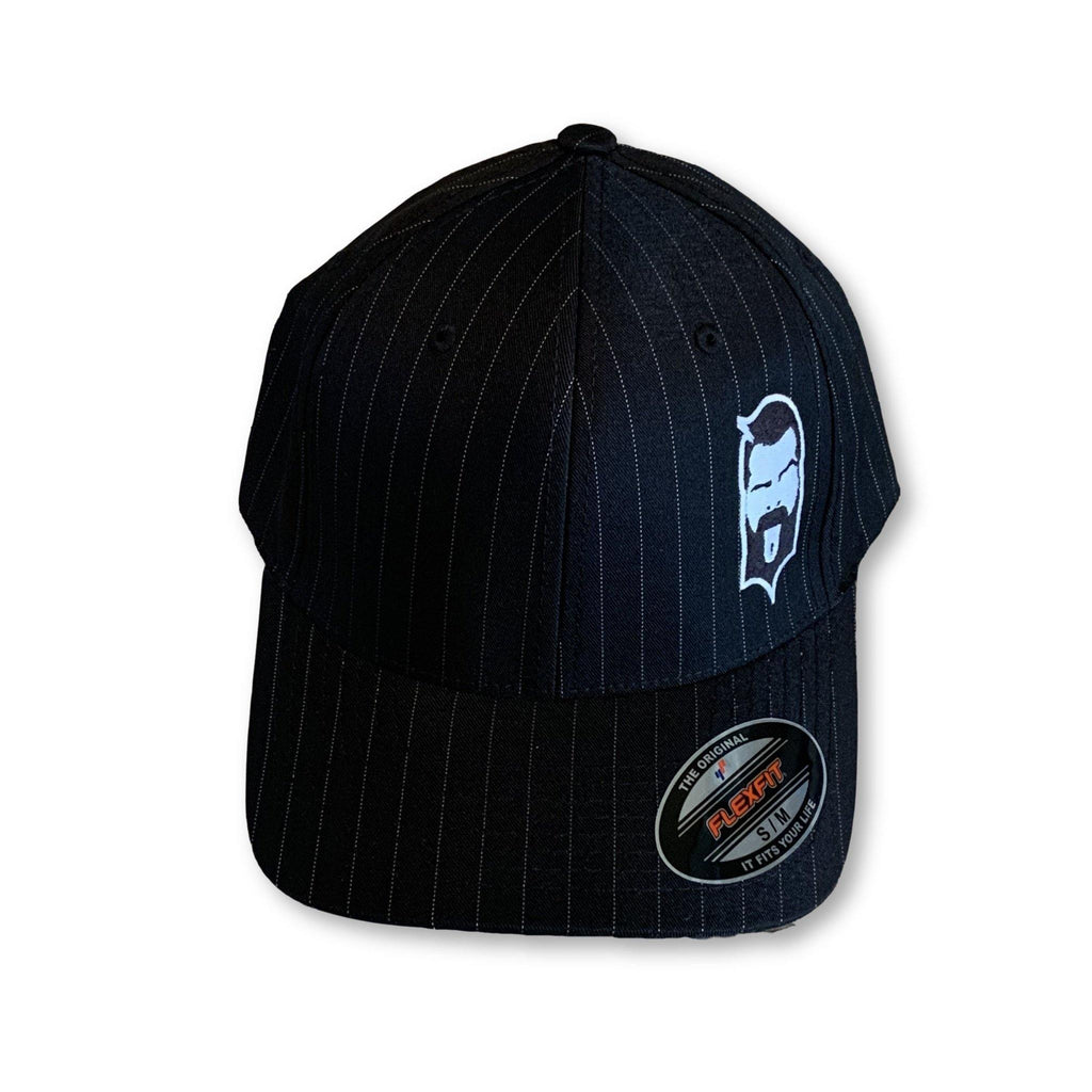 THIGHBRUSH® - FlexFit Hat - Black Pinstripe with 2-Tone Face Logo