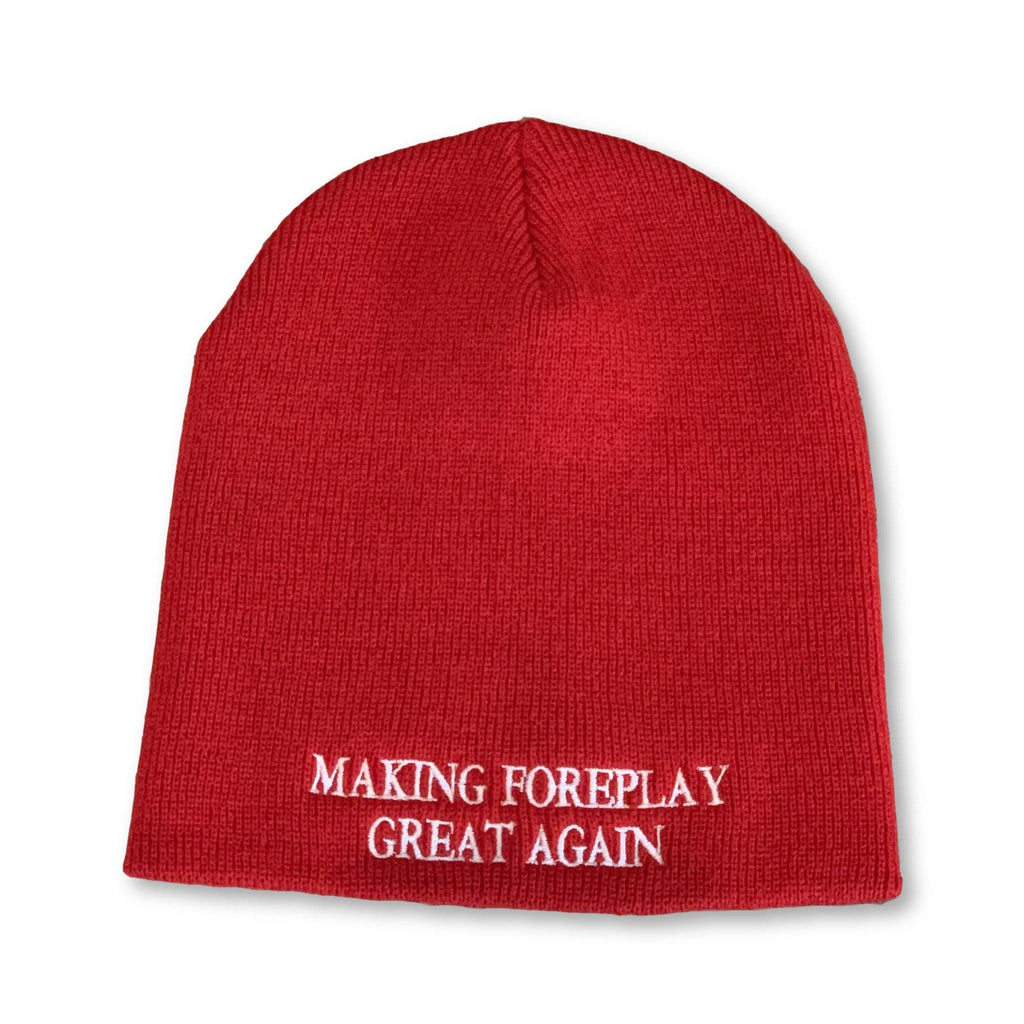 "THIGHBRUSH® ""Making Foreplay Great Again"" Beanies - Red"