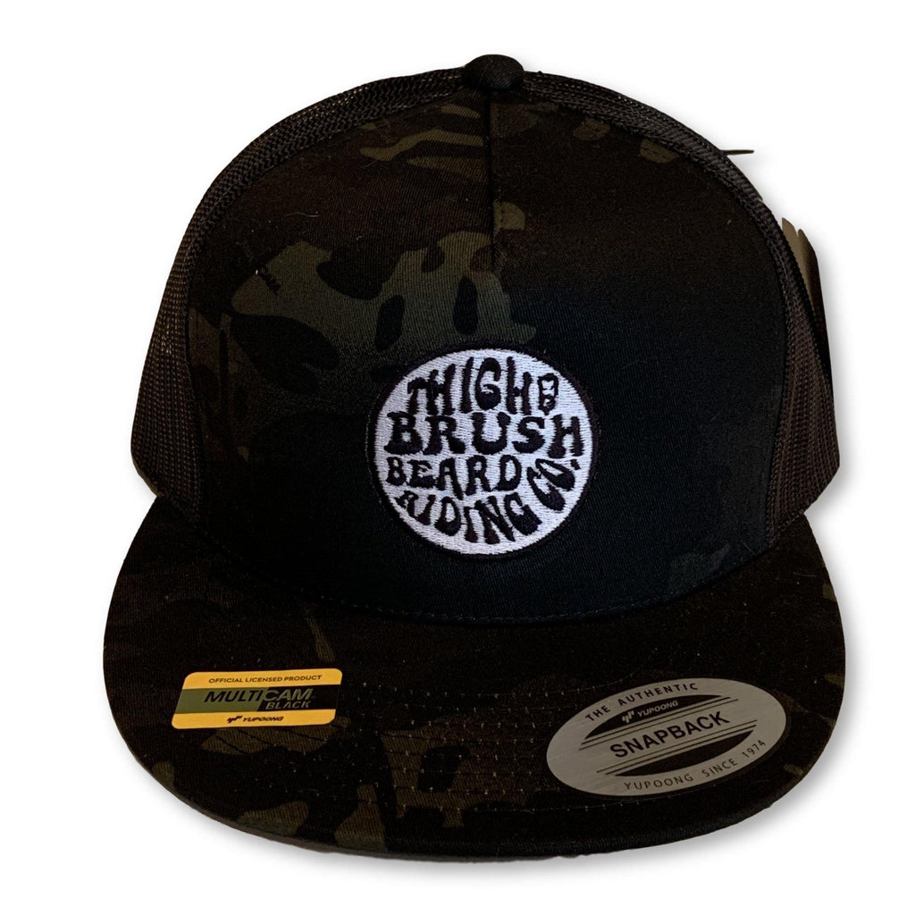 THIGHBRUSH® BEARD RIDING COMPANY - Trucker Snapback Hat - Camo - Multicam Black - Flat Bill