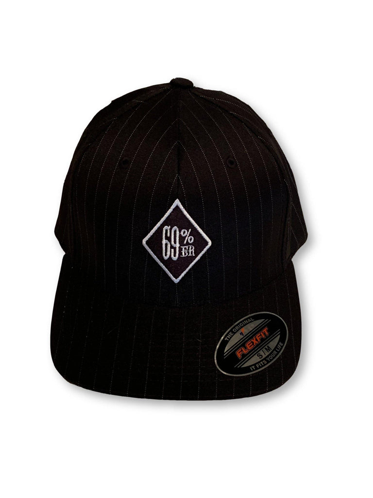 "THIGHBRUSH® ""69% ER DIAMOND COLLECTION - FlexFit Hat - Black Pinstripe"