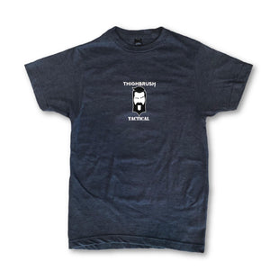 "THIGHBRUSH TACTICAL - ""Happy THIGHS Matter"" - Men's T-Shirt - Heather Navy - THIGHBRUSH®"
