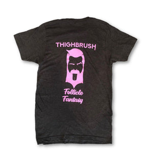 "THIGHBRUSH® - ""Follicle Fantasy"" - Men's T-Shirt - Charcoal Grey - thighbrush"