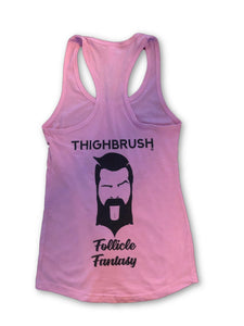 "THIGHBRUSH - ""Follicle Fantasy"" - Women's Tank Top -  Lavender and Black"