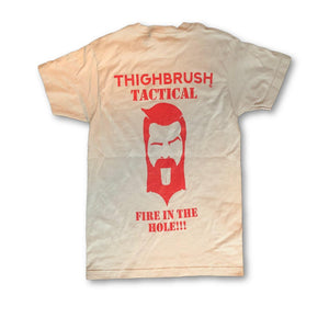 "THIGHBRUSH® TACTICAL - ""Fire in the Hole"" - Men's T-Shirt - Grey - thighbrush"