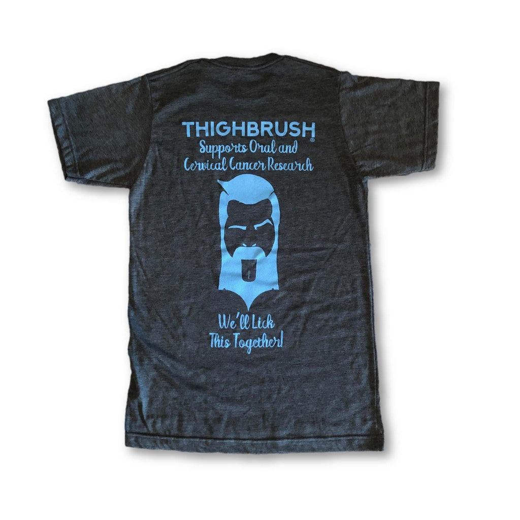"THIGHBRUSH® - ""We'll Lick This Together!"" - Men's T-Shirt - Heather Black - thighbrush"