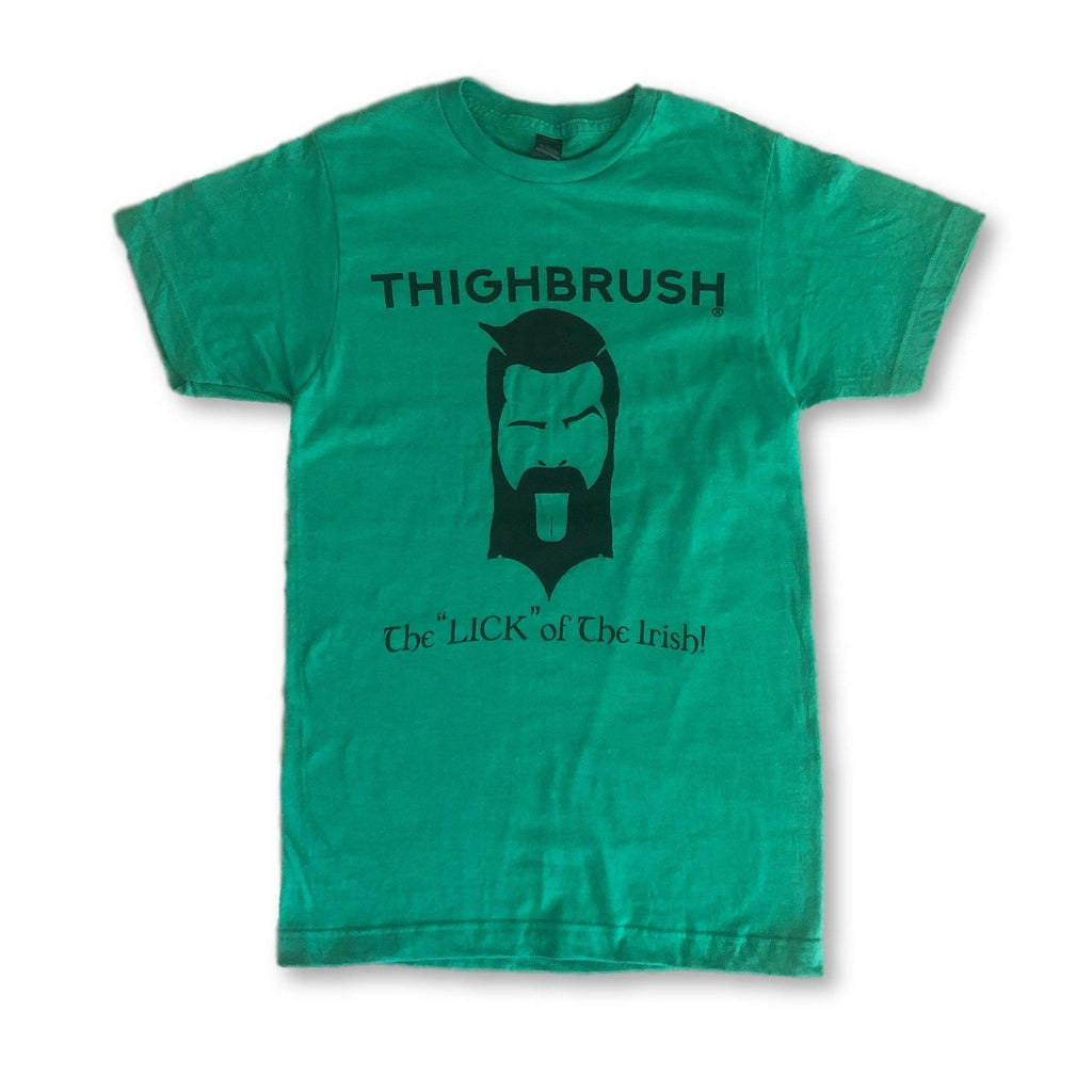 LIMITED EDITION - THIGHBRUSH® - The LICK of the Irish - Men's T-Shirt - St. Patrick's Day - thighbrush