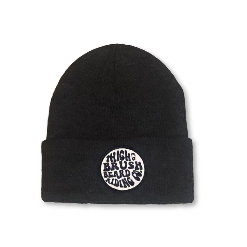 THIGHBRUSH® BEARD RIDING COMPANY Cuffed Beanies - Patch on Front - Charcoal Grey - thighbrush