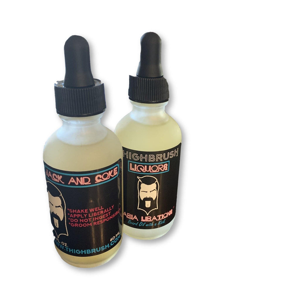 "THIGHBRUSH® LIQUORS - ""Labia Libations"" Beard Oil with a Kick! - 2 Ounce Bottle - Jack and Coke"