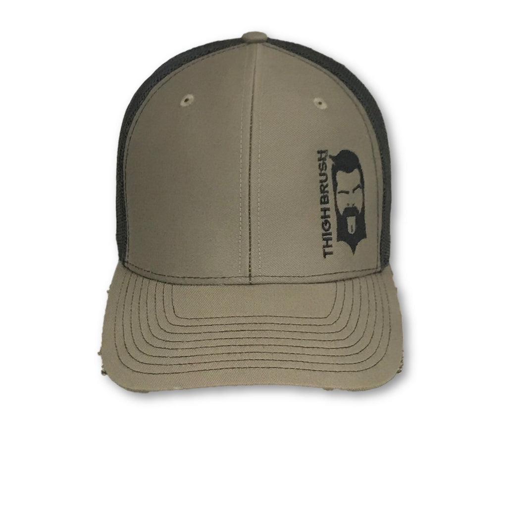 THIGHBRUSH® - Trucker Snapback Hat - Olive Green and Black - thighbrush