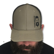 THIGHBRUSH - Trucker Snapback Hat - Olive Green and Black