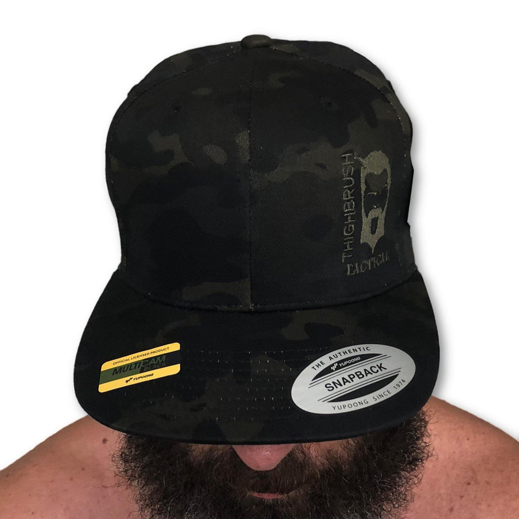 THIGHBRUSH® TACTICAL - SnapBack Hat - Camo - Multicam Black - Swollen Labe - thighbrush