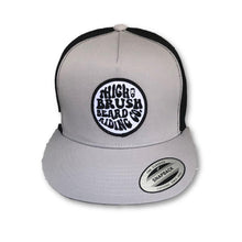 THIGHBRUSH BEARD RIDING COMPANY - Trucker Snapback Hat - Grey and Black - Flat Bill