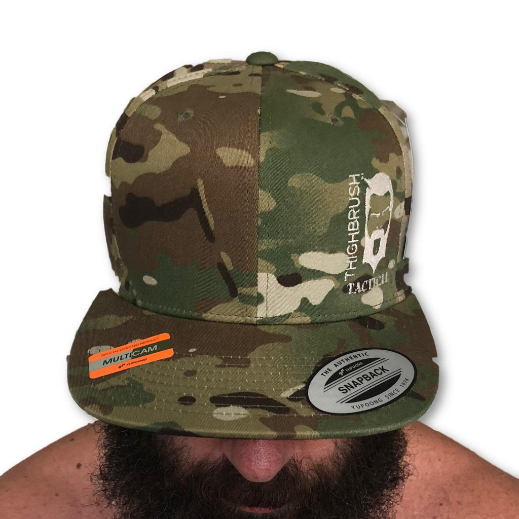 THIGHBRUSH®TACTICAL - SnapBack Hat - Camo - Multicam - Swollen Labe - thighbrush