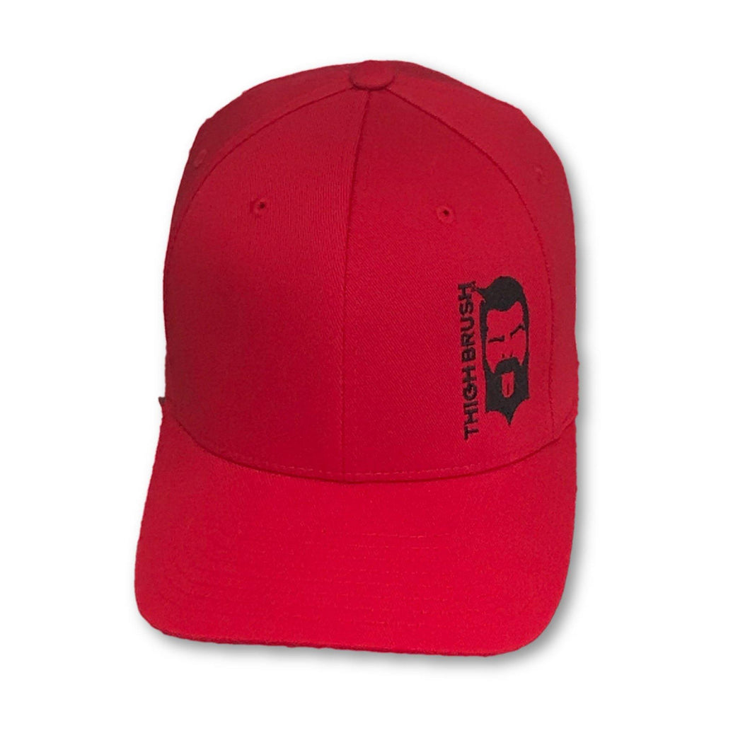 THIGHBRUSH - FlexFit Hat - Red with Black - #THIGHBRUSHNATION - THIGHBRUSH®